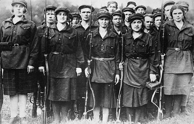 mujeres octubre 1917