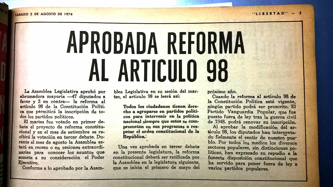 REFORMA ARTICULO 98