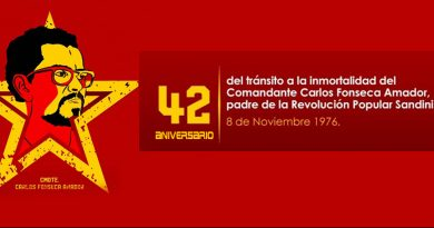 Carlos Fonseca Amador: ¡Nicaragua entera te grita PRESENTE!