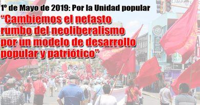 El Partido Vanguardia Popular propone la unidad de todas las fuerzas populares para cambiar el nefasto rumbo del neoliberalismo por un modelo de desarrollo popular y patriótico