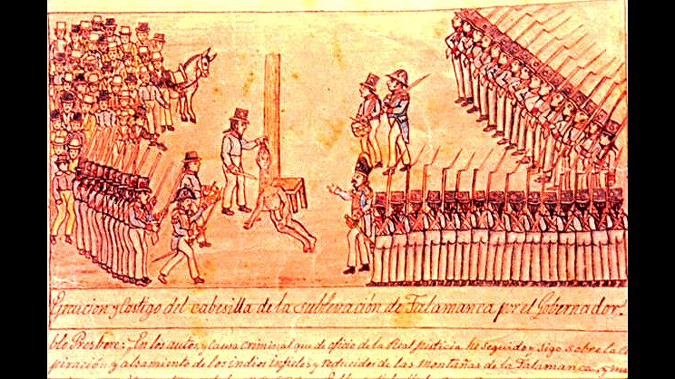 Ejecución de Pablo Presbere en Cartago el 4 de julio de 1710.