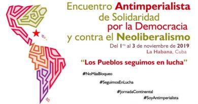 Declaración Final del Encuentro Antimperialista de solidaridad por la democracia y contra el neoliberalismo