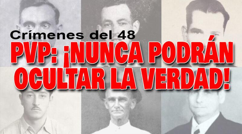 El PVP condena enérgicamente el acuerdo legislativo que declara a José Figueres Ferrer «héroe» de la paz