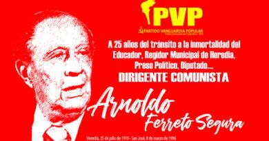 Arnoldo Ferreto Segura, a 25 años de su partida