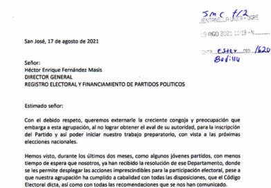 Pueblo Unido manifiesta preocupación ante atraso de aval del TSE para participar de las elecciones nacionales 2022