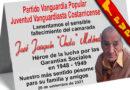 Lamentamos la muerte del compañero José Joaquín Meléndez, nuestro compañero en Vanguardia Popular