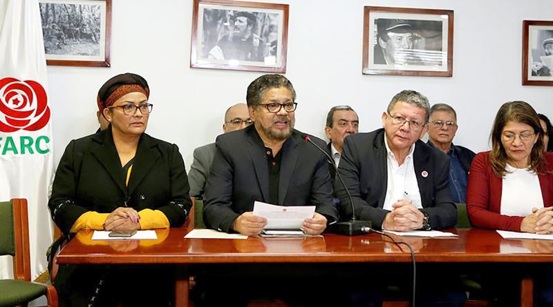 Ivan Márquez, de la FARC, durante la rueda de prensa en Bogotá (Colombia). 10 de abril de 2018. Jaime Saldarriaga / Reuters