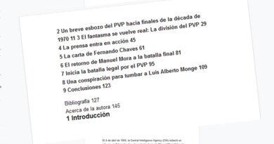 Una breve aclaración necesaria sobre un momento de la división del PVP