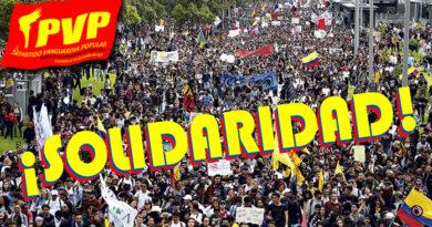 PVP: ¡Viva el pueblo colombiano en lucha!