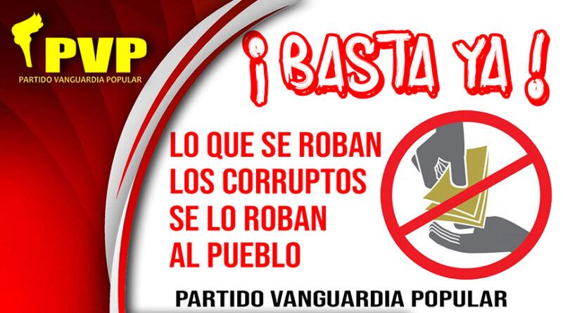 Todo el pueblo debe luchar contra la corrupción, lo que se roban los corruptos se lo roban al pueblo