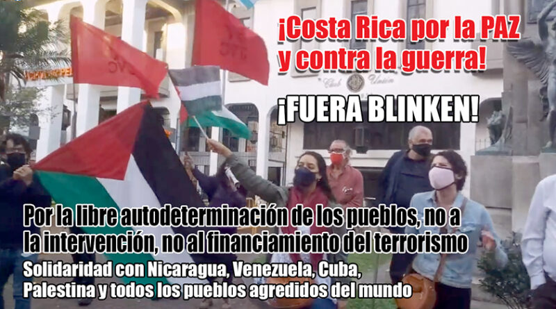 Fuera Blinken: Felicito desde el fondo de mi corazón a los compañeros que hicieron oir su voz por la Patria contra el imperialismo yanqui