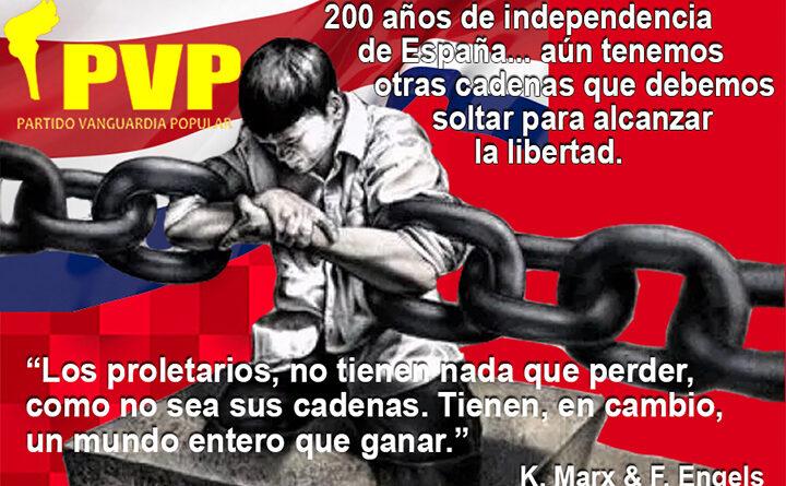 El rompimiento de las cadenas del colonialismo español fue una victoria de todo el pueblo, es justo celebrarla