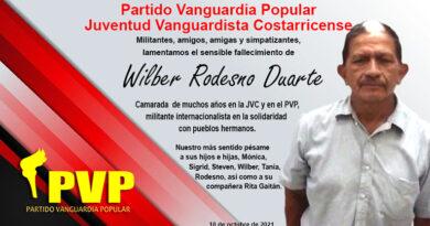 El Partido Vanguardia Popular está de luto, partió en compañero Wilber Rodesno